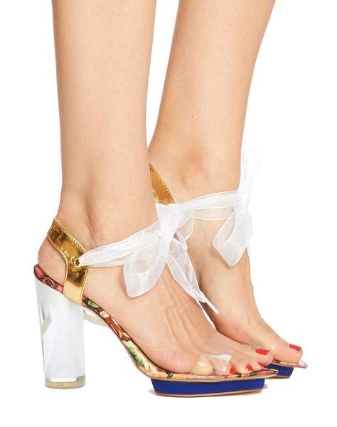 Clio floral sandal
