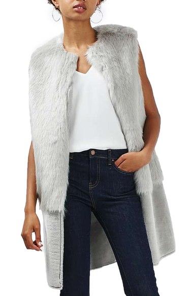Top shop faux fur vest