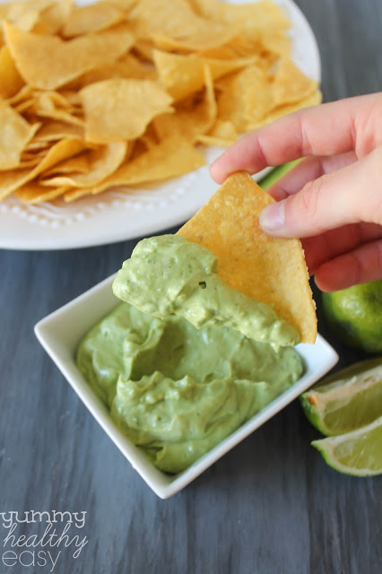 skinny avocado dip