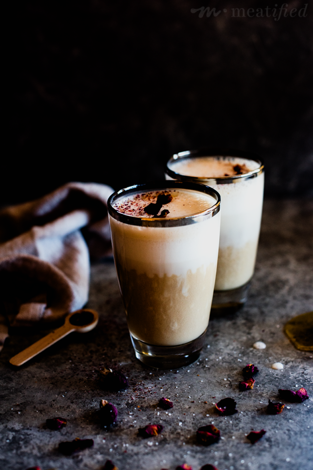 Coconut rose earl grey latte