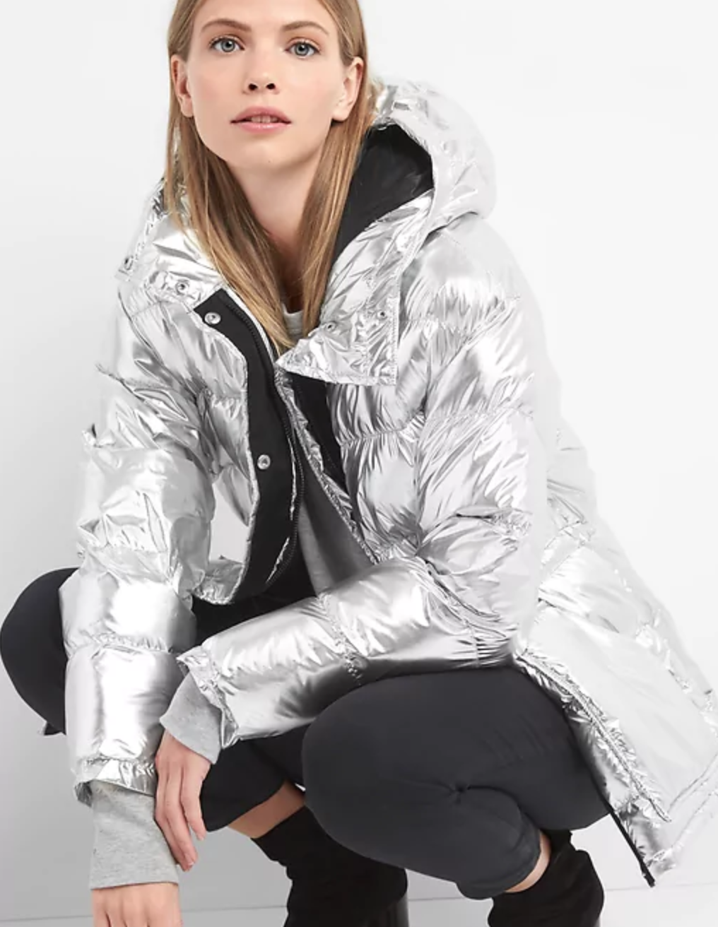 Gap metallic jacket