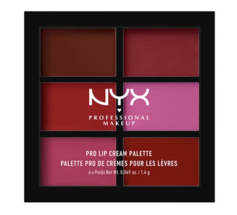 NYX lip palette